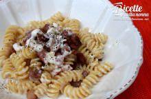 Pasta speck croccante e philadelphia