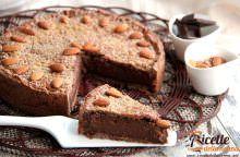 Torta al cacao e cioccolato