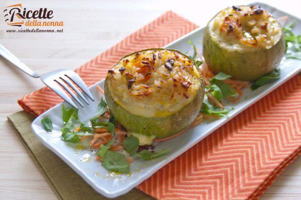 zucchine ripiene riso carote