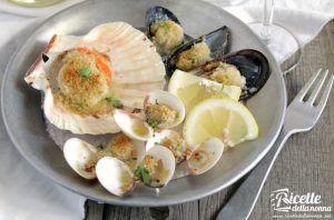 Misto frutti di mare in forno al gratin