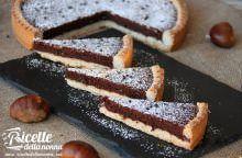 Crostata al cioccolato e castagna