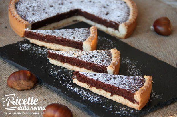 Crostata al cioccolato e castagne