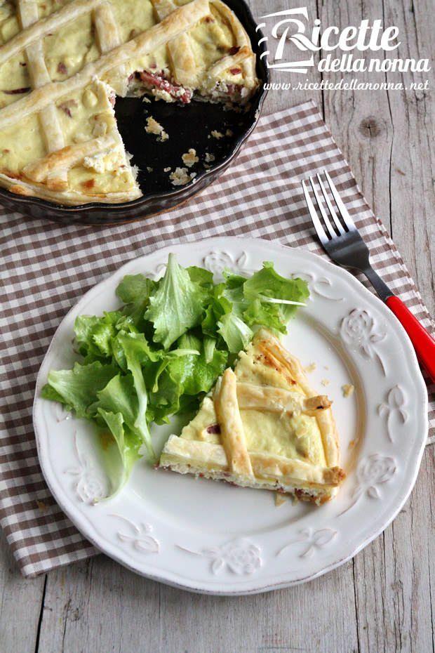 Torta ricotta e pancetta ricetta e foto