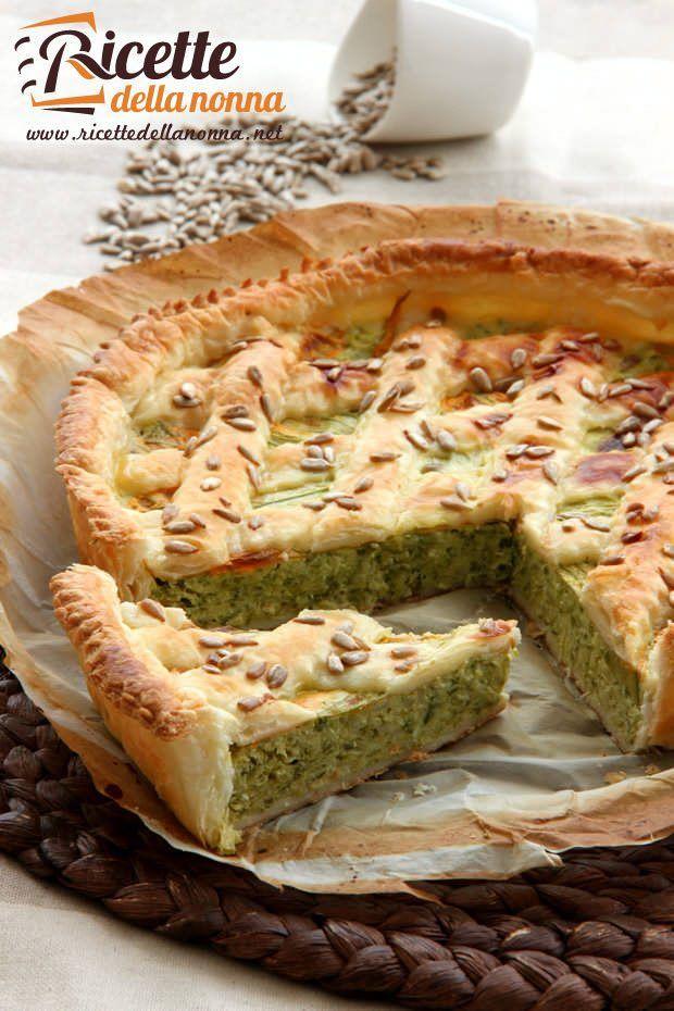 Torta rustica zucchine e fiori di zucca ricetta e foto
