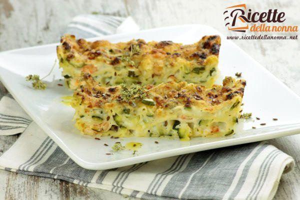 Lasagne bianche alle zucchine e gamberetti