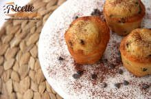 Muffin yogurt al caramello e cioccolato