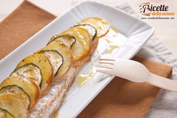 Nasello in crosta di patate e zucchine ricetta e foto