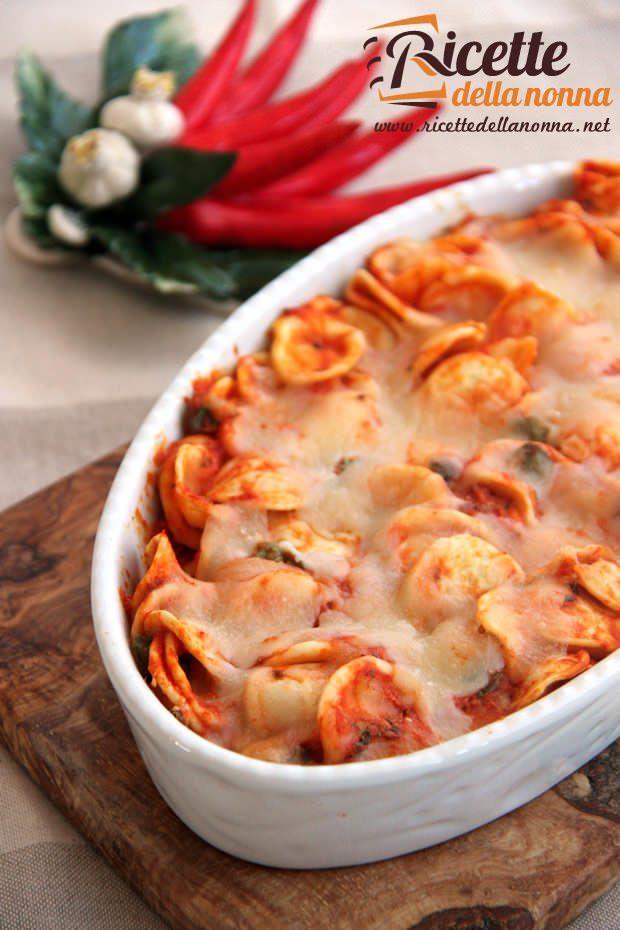 Orecchiette in forno alla pizzaiola ricetta e foto