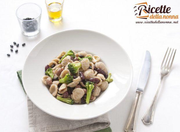 Ricetta orecchiette con broccoli e fagioli