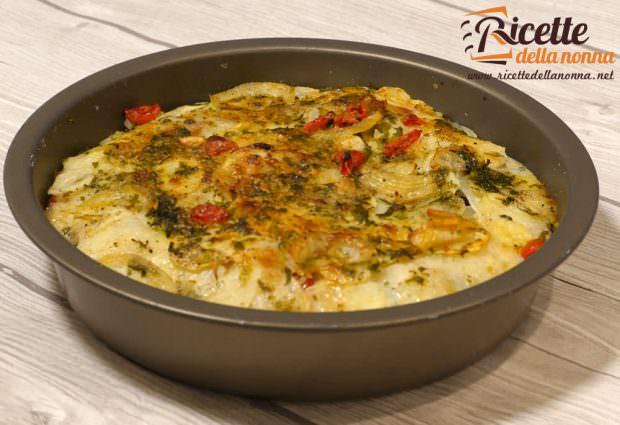 Ricetta tiella pugliese riso, patate e cozze