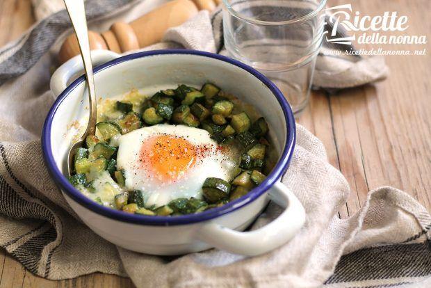 Uova e zucchine al forno con formaggio ricetta e foto