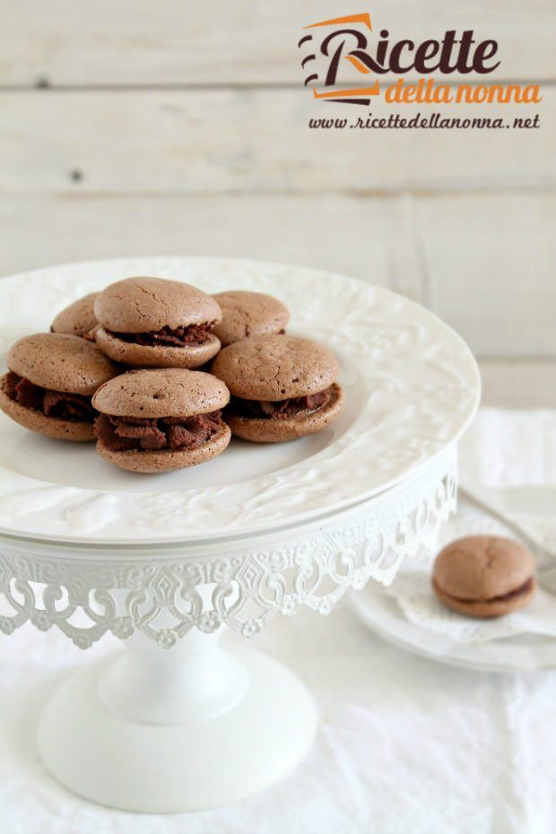 Foto di Macarons al cioccolato