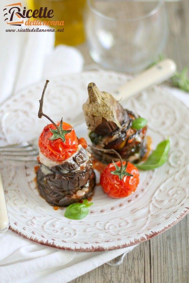 Mini parmigiana estiva di melanzane ricetta e foto