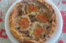 Torta salata al radicchio di Chioggia