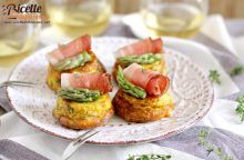 Frittata agli asparagi e speck