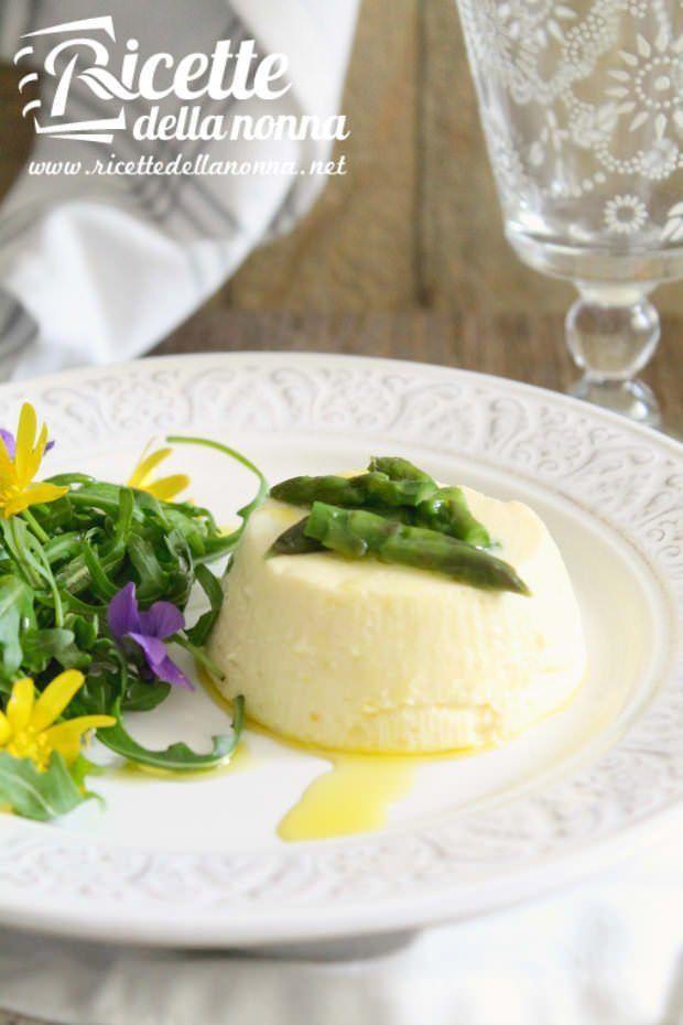 Foto sformato asparagi rucola