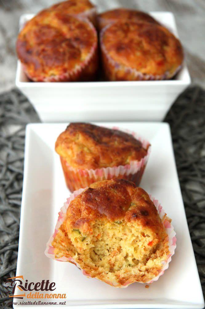 Muffin salati alle verdure ricetta e foto