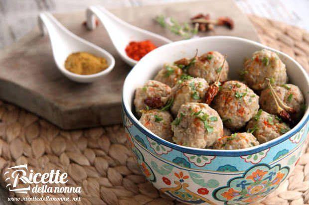 Ricetta polpette curry spezie