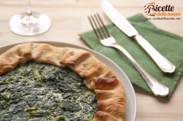 torta verde leggera alle bietole e ricotta