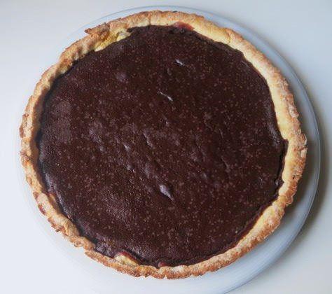 Crostata di farro,acqua e cioccolato ricetta e foto