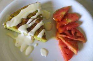 Sformato di verdure di stagione con salsa al formaggio