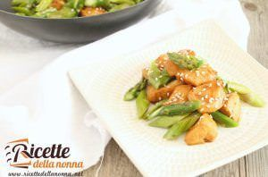 Pollo con gli asparagi light