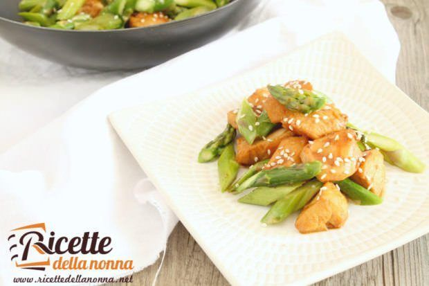 Pollo light agli asparagi