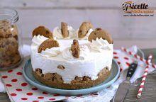 Cheesecake con i cookies al cioccolato