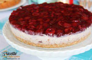 Cheesecake alla ricotta e ciliegie
