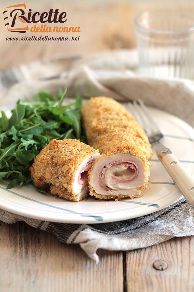 Involtini di pollo e mortadella ricetta e foto