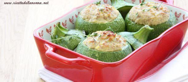 Ricetta zucchine tonde ripiene