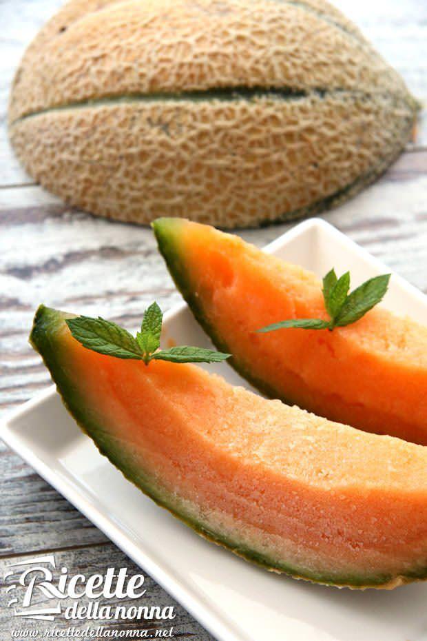 Sorbetto al melone ricetta e foto