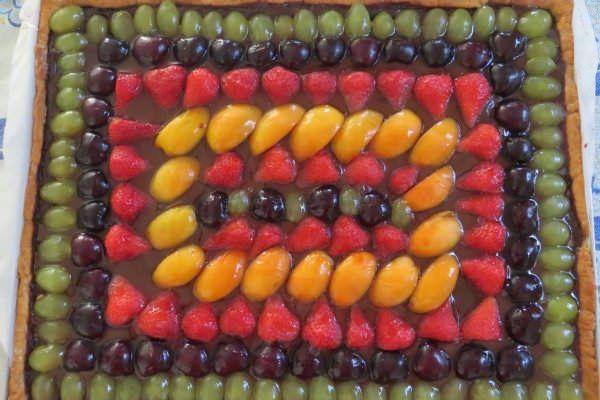 Crostata alla frutta e cioccolato ricetta e foto