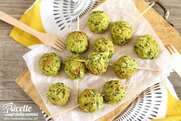 Polpette di zucchine e ricotta al forno ricetta e foto