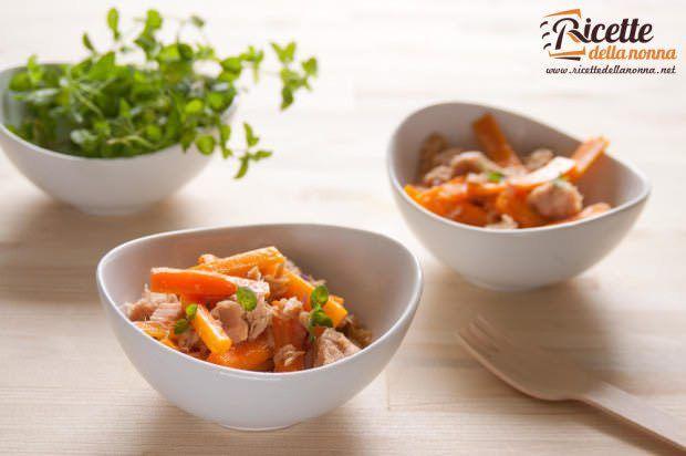Insalata tonno carote ricetta e foto