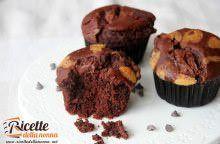 Muffin al cacao ripieni di Nutella