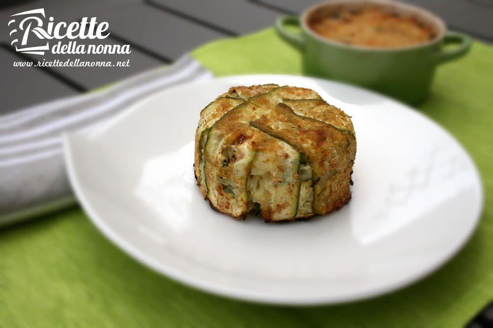 Sformatini di riso, zucchine e ricotta ricetta e foto