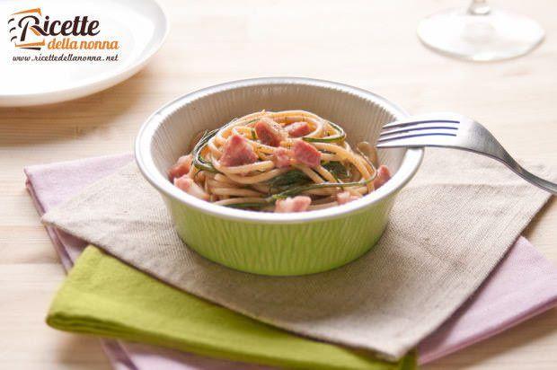 spaghetti agretti pancetta