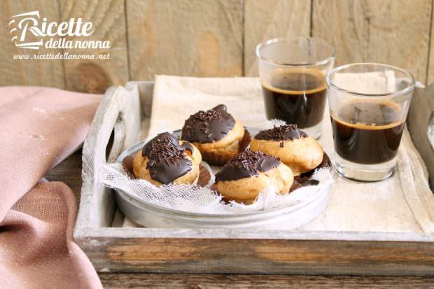 Bignè ricotta e cacao