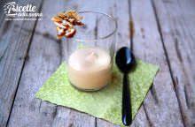 Mousse al dulce de leche con croccante di frutta secca