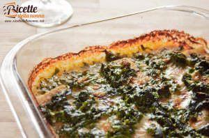 Merluzzo con spinaci gratinato