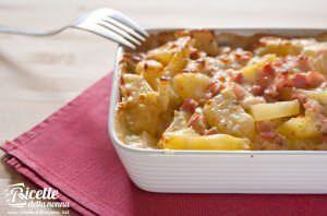 Terrine di patate, pancetta e formaggio