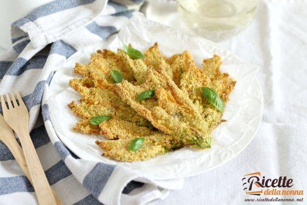 Fiori di zucca croccanti al forno ricetta e foto