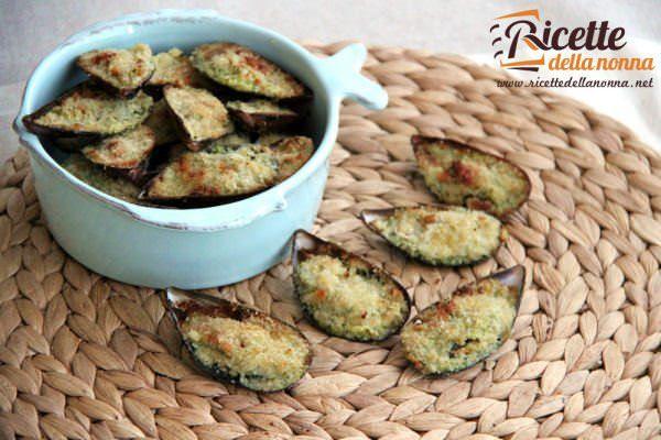 Cozze gratinate al pesto di zucchine