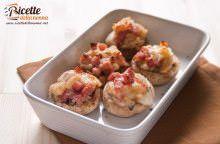 Funghi ripieni di pancetta e formaggio Asiago
