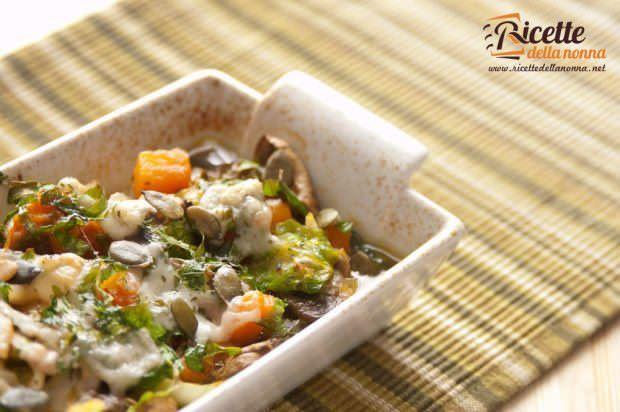 funghi champignon cavolini di Bruxelles zucca Parmigiano Reggiano porri sedano rapa
