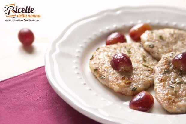 Medaglioni di lonza all'uva ricetta e foto