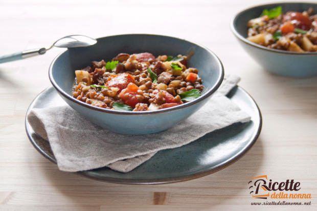 lenticchie castagne mele minestra