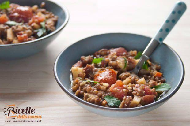 Minestra di lenticchie e castagne ricetta e foto