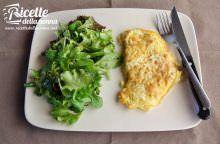 Omelette con fiori di zucca e pecorino toscano DOP